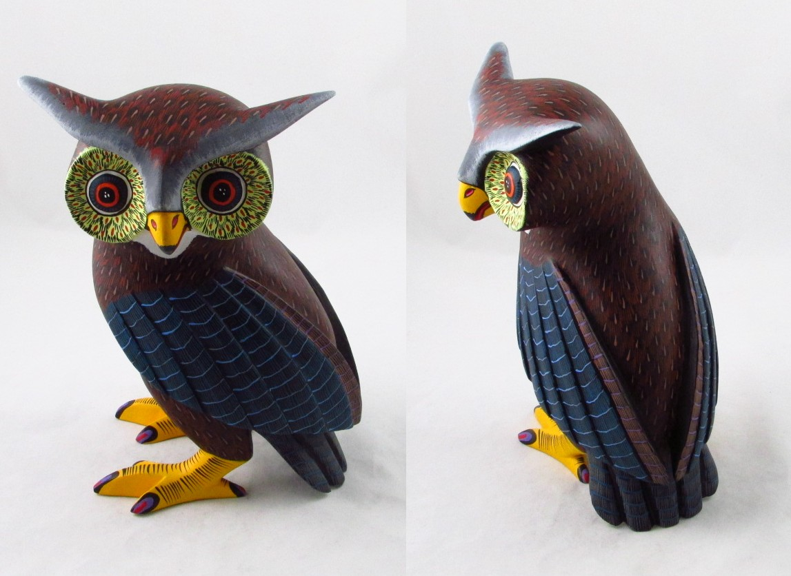 Tanner chaney oaxacan wood carvings damian morales owls