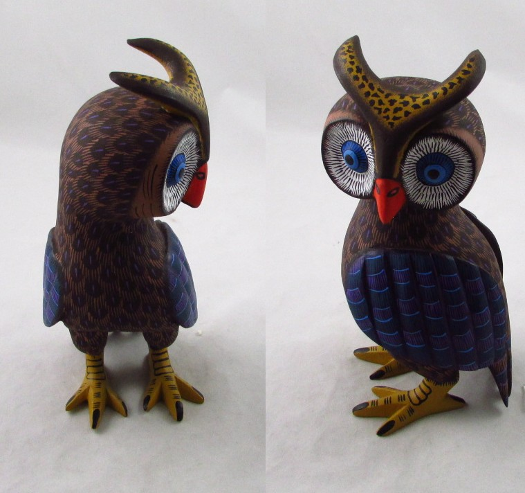 Tanner chaney oaxacan wood carvings susano morales owls