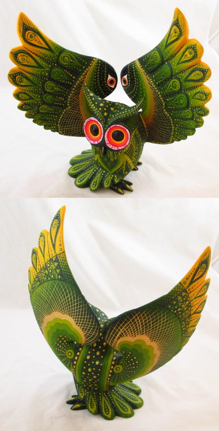 Tanner chaney oaxacan wood carvings luis sosa owls c